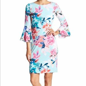 Calvin Klein Floral Bell Sleeve Dress 10